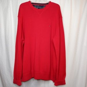 TOMMY HILFIGER Men's Red Knit Sweater  Sz XXL